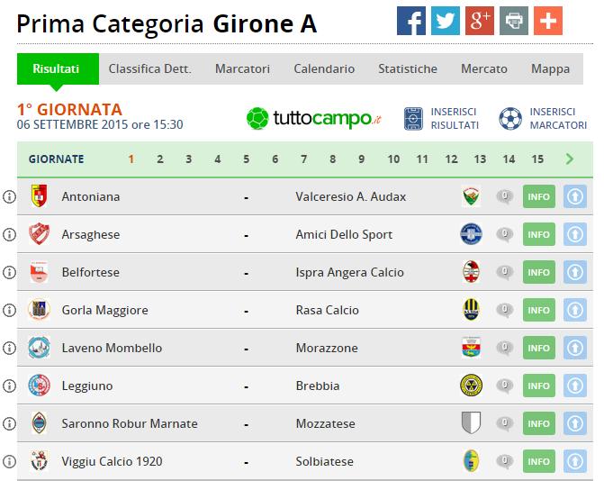 Calendario Terza Categoria.Stagione 2015 2016 Gironi E Calendari Dalla Prima Alla