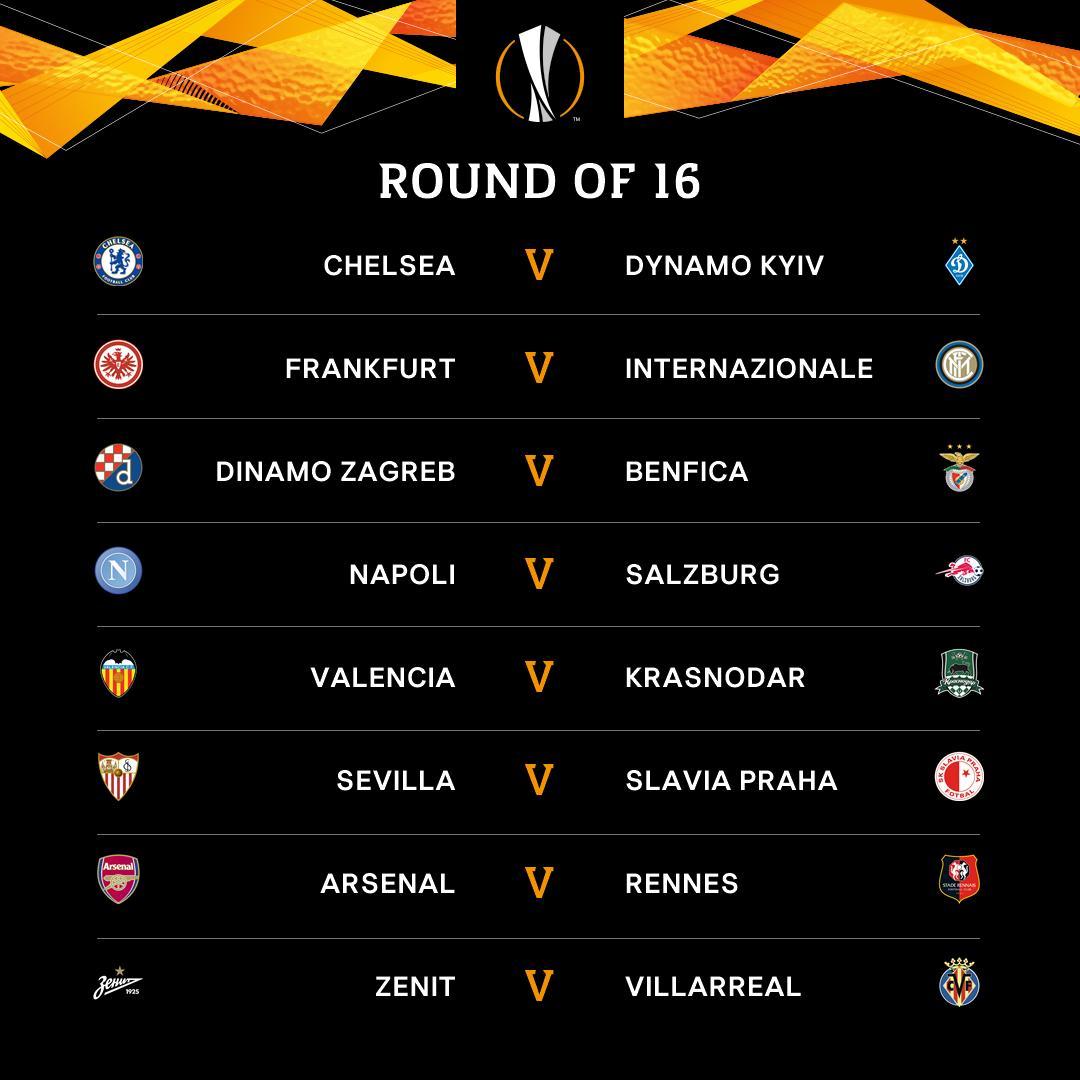 Calendario Europa League Ottavi.Europa League I Sorteggi Degli Ottavi Di Finale Dettaglio